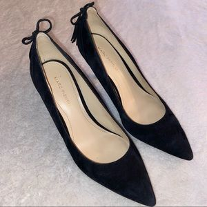 Marc Fisher Pointy Toe Black Suede Heels